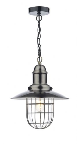 Terrace 1 Light Pendant Antique Chrome (Class 2 Double Insulated) BXTER0161-17